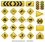 stock-vector-vector-road-sign-set-118376557